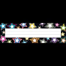 Fancy Stars Flat Name Plates