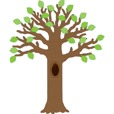 Big Tree with Polka Dot Leaves Bulletin Board Display Set