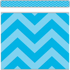 Aqua Chevron Straight Border Trim