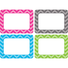 Chevron Name Tags/Labels - Multi-Pack