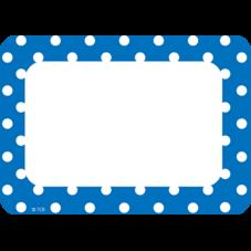 Blue Polka Dots Name Tags/Labels
