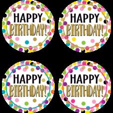 Confetti Happy Birthday Wear 'Em Badges