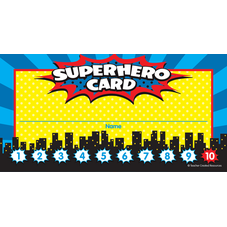 Superhero Punch Cards