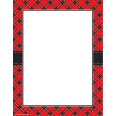 Red Plaid Computer Paper