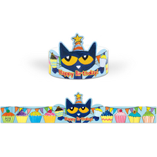 Pete the Cat Happy Birthday Crowns