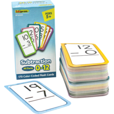 Subtraction Flash Cards - All Facts 0–12