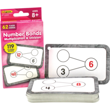 Number Bonds Flash Cards - Multiplication and Division