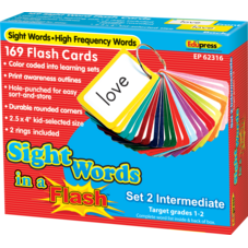 Sight Words in a Flash Cards Grades 1-2