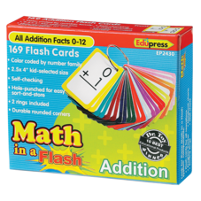 Math in a Flash Cards: Addition