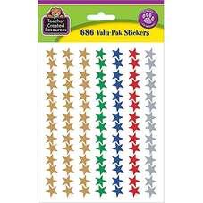 Assorted Foil Stars Stickers Valu-Pak
