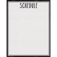 Modern Farmhouse Schedule Write-On/Wipe-Off Chart