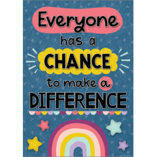 Everyone Has a Chance to Make a Difference Positive Poster