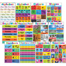 Colorful Early Learning Small Poster Pack