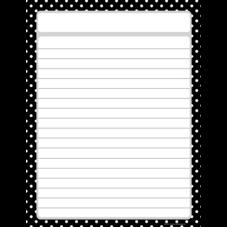 Black Polka Dots Lined Chart