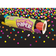 Colorful Confetti on Black Better Than Paper Bulletin Board Roll