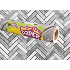 White & Gray Wood Herringbone Better Than Paper Bulletin Board Roll