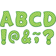 """Lime Polka Dots Funtastic Font 3"""" Magnetic Letters"""