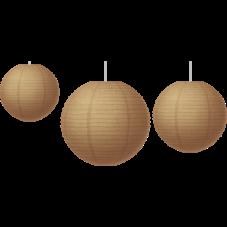 Burlap Paper Lanterns