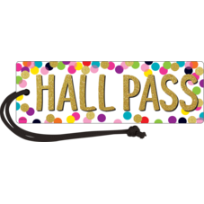 Confetti Magnetic Hall Pass