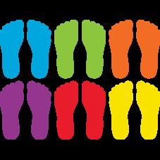 "Spot On Carpet Markers Footprints - 7"""
