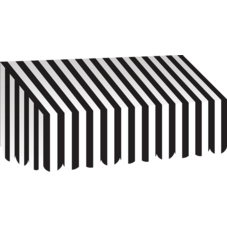 Black & White Stripes Awning