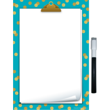 Clingy Thingies Teal Confetti Small Note Sheet