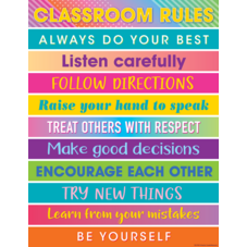 Colorful Vibes Classroom Rules Chart