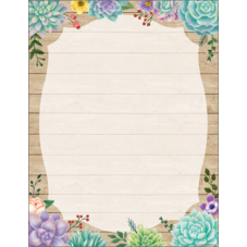Rustic Bloom Blank Chart