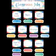 Watercolor Classroom Jobs Mini Bulletin Board