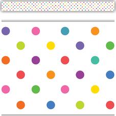 Colorful Dots Straight Border Trim