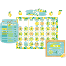 Lemon Zest Calendar Bulletin Board