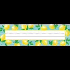Lemon Zest Flat Name Plates