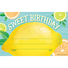Lemon Zest Sweet Birthday Awards