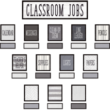 Modern Farmhouse Classroom Jobs Mini Bulletin Board