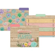 Rustic Bloom File Folders