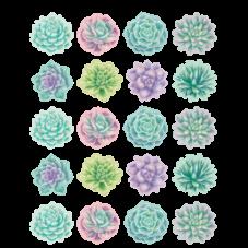 Rustic Bloom Succulents Stickers