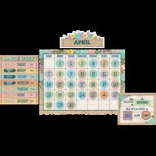 Rustic Bloom Calendar Bulletin Board Display Set