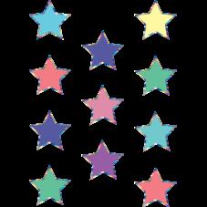 Iridescent Colorful Stars Mini Accents