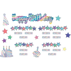 Iridescent Happy Birthday Mini Bulletin Board