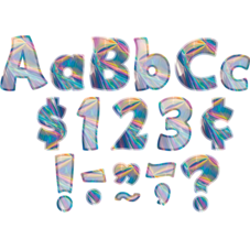 """Iridescent Funtastic 4"""" Letters Combo Pack"""
