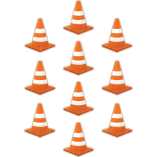 Under Construction Cones Accents