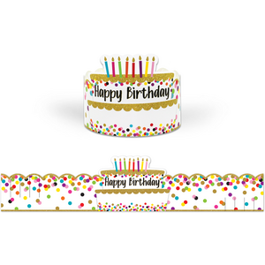 TCR1210 Confetti Happy Birthday Crowns Image