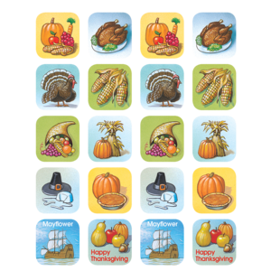 TCR1255 Thanksgiving Stickers Image