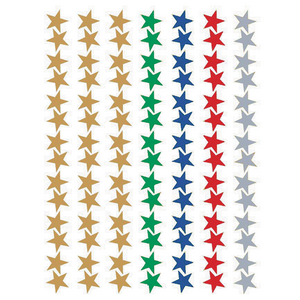 TCR1275 Assorted Stars Foil Stickers Image