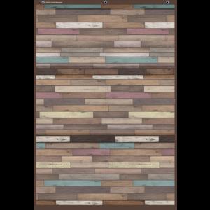 TCR20326 Reclaimed Wood Large 6 Pocket Chart Image