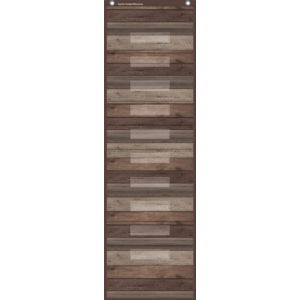 TCR20331 Dark Wood 10 Pocket File Storage Pocket Chart Image