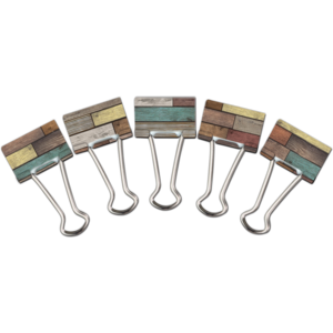 TCR20334 Reclaimed Wood Medium Binder Clips Image
