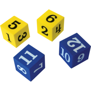 TCR20609 Foam Numbered Dice (numerals 1-12) Image