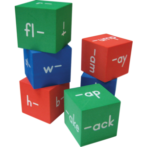 TCR20633 Foam Word Families Cubes Image