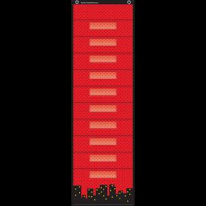 TCR20739 Superhero 10 Pocket File Storage Pocket Chart Image